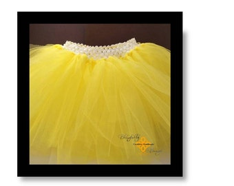 Sunshine Yellow infant and little girl tutu