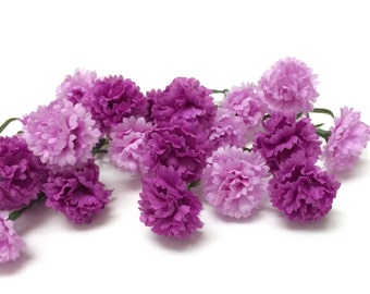 Artificial Flowers - One Lot Two Tone Purple Mini Mums - Flower Crown, Halo, Woodland Crown