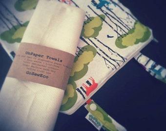 Hanging Kitchen Wet Bag and 1 Dozen UNpaper Towels - Bundle Deal!
