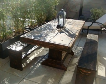3 foot Patio table and bench set