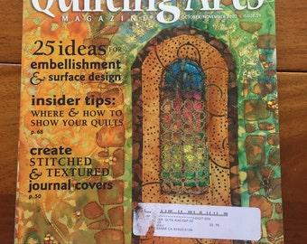 Quilting Arts Magazine October November 2007 Issue 29 Quilt Back Issue
