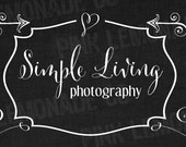 Instant Download DIY Facebook Timeline Cover Image Simple Living black white swirls arrows hearts black linen texture add your own text