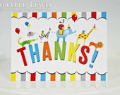 Animals on Parade Thank You Note Set by Loralee Lewis