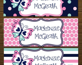 Personalized Waterproof stickers Waterproof labels Name Label Dishwasher Safe Daycare Label School Label - Mackenzie, 30 piece set