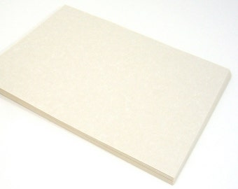 Blank paper, 60 pieces fine Natural colored Parchment style, fancy printer compatible text stock, printing, stamping, calligraphy and crafts