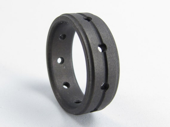 rings tungsten collections thin in tactical fiber honor line wedding collection natural carbon blue valor large ring