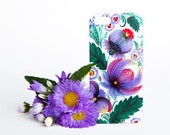 Big Purple Flowers iPhone Floral Case - iPhone 6 / 6 Plus Case - iPhone 5 / 5S Case - iPhone 4 Case - HTC - Samsung - Lenovo - Sony - Nokia