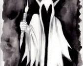 One (Original Black and White Illustration)