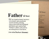 Personalised Fathers Day Card|Card for Dad|Father Definition Card