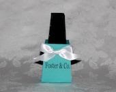 Blue Personalized Nail Polish Bottle Favor Box