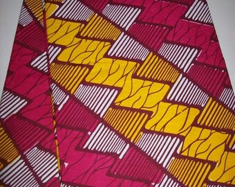 Holland Supreme African fabric by the yard/ Pink Yellow wax print/ Holland wax prints/ Supreme Holland fabrics