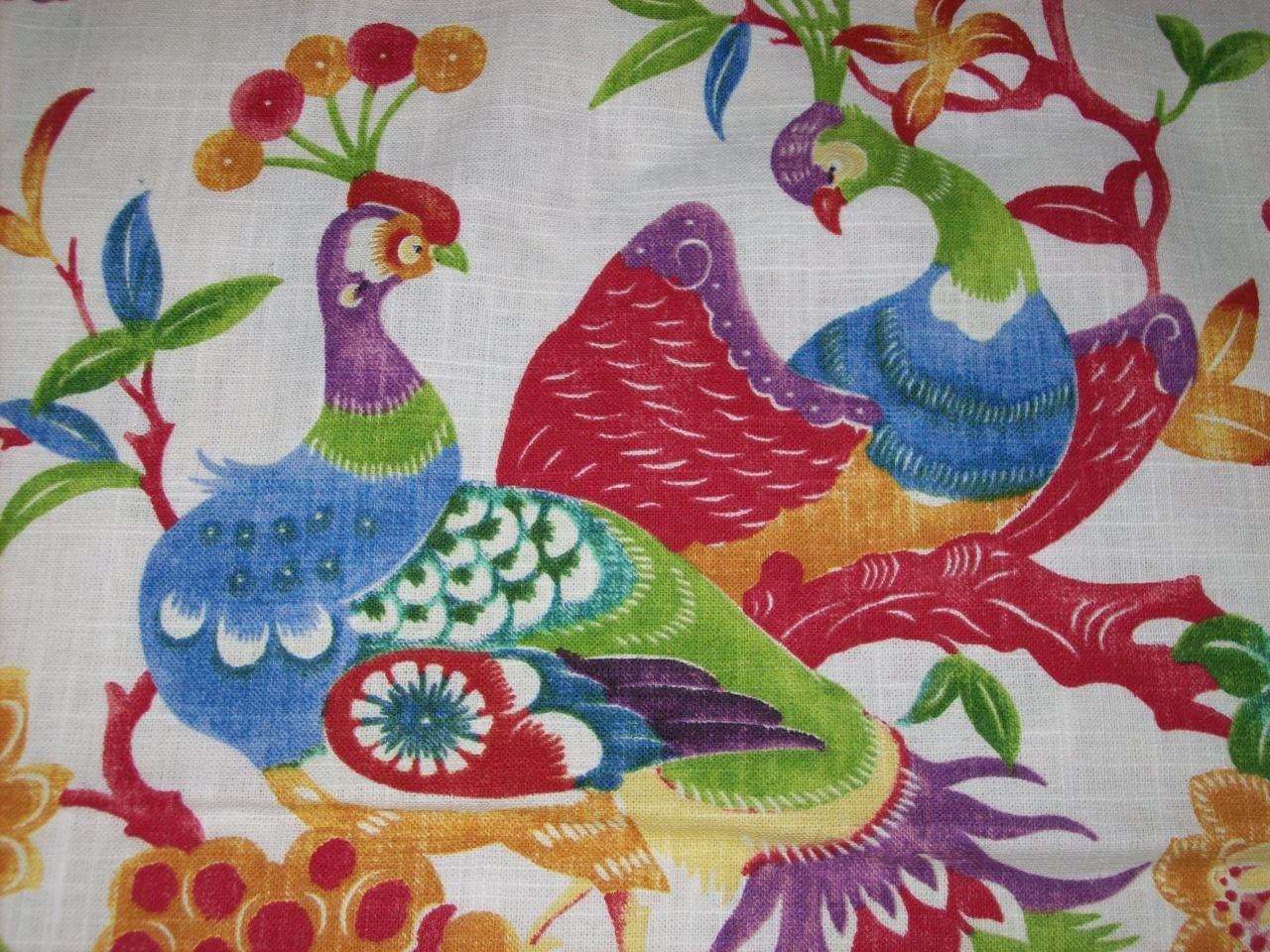 Majestic Peacock Upholstery Fabric By The Yard For Home Decor
