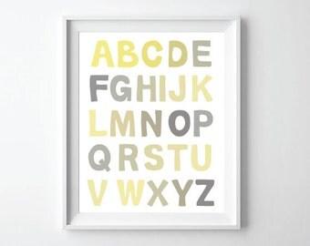 ABC Alphabet Poster print wall art