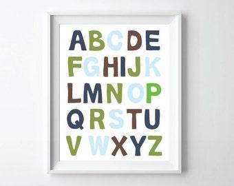 ABC Alphabet Print 11x14