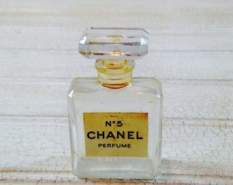 Vintage Chanel No. 5 Bottle and Original Box