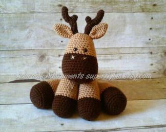 Deer, Deer Decor, Deer Plush, Deer Baby Shower Gift, Stag, Handmade Fawn, Baby Deer Plush, Woodland Nursery, Cute Deer Stuffed Animal
