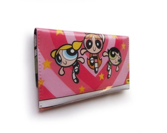 Powerpuff Girls Purse - Upcycled Comic Book in Vinyl