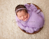 Leighton Heritage Newborn Stretch Wrap IN STOCK and Ready to Ship Knit Soft Swaddle Photography Prop Purple Girly Lavender Posing Swaddler