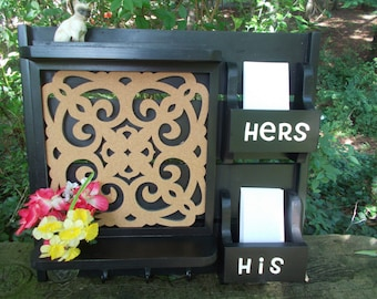 IN STOCK***Command Center--His n Hers Mail slots-- Letter organizer--Message Board-- Kitchen Organizer