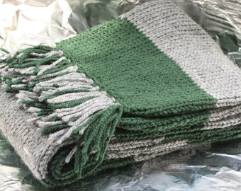 Slytherin Inspired Hand Knitted Deluxe Scarf