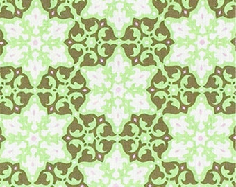 END of BOLT - 29 inches - Amy Butler - Daisy Chain - Mosaic in Kiwi - cotton quilting fabric