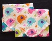 Reusable Sandwich Wrap, Placemat, Eco Friendly Lunch Wrap, Reusable Gift Wrap, Elephant Sandwich Wrap