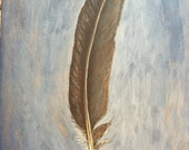 Grey Bird Feather