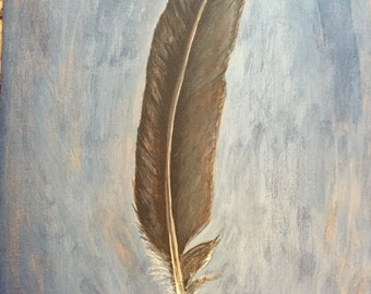 Grey Bird Feather