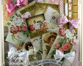 Everything is Coming Up Roses Creativity Kit 55 pieces images ,paper,bows