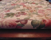 """Gorgeous Fabric,  Fruit and Flowers,  Soft Muted Colors, 60"""" wide, Two Yards"""