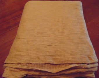 Two Yards of Cinnamon Crinkled Cotton/Spandex Fabric, Two way stretch