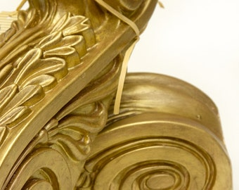 Architectural Corbel pair painted in layers of gold