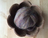 Wool roving supply for needle felting, Rainbow Opal Brown (lighter), 1/2 ounce or 1 ounce, brown roving for felting, brown wool roving