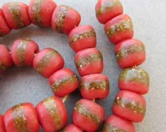 African Red Kente Beads