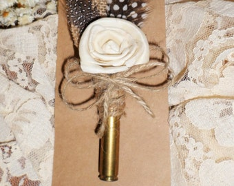 Rustic Bullet Boutonniere