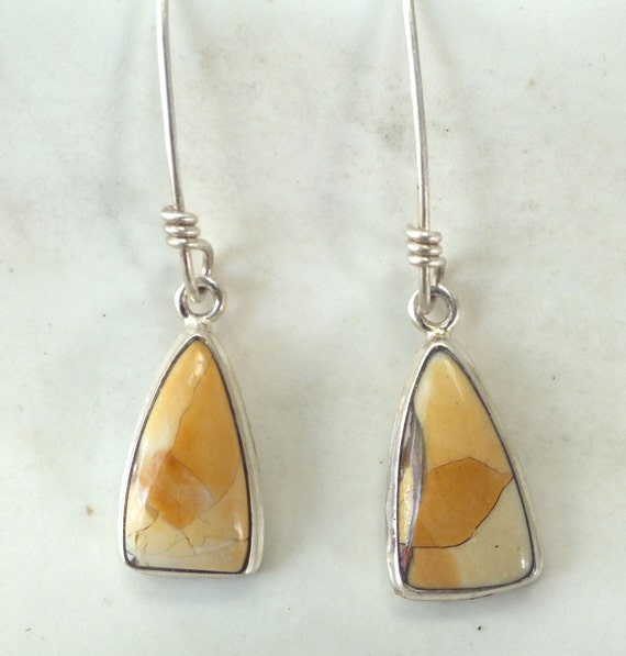 Picture Jasper and Sterling Silver Drop Earrings