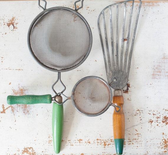 Vintage Kitchen Utensils Retro Kitchen Utensils Green