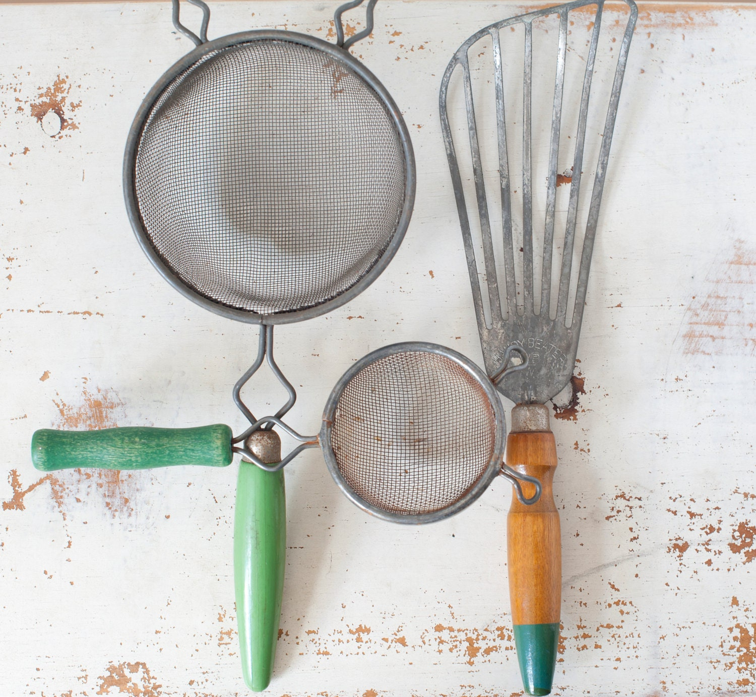Vintage Kitchen Utensils Retro Kitchen Utensils Green