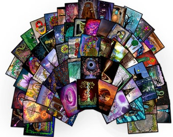 Post Psychedelic Cyberpunk Tarot Deck - New in Color!