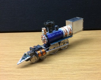 Steam Locomotive Created From Junked Computer Parts
