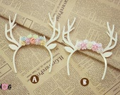 Blythe long deer Flowers headband