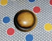 Wonderful Vintage Large Tan Celluloid Dome Button , 1 7/8 Inch Length