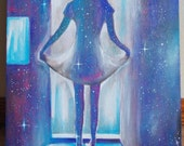 """Through the Nebula-""""11"""" x 12"""" Original Painting"""