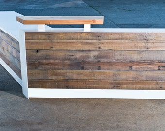 Custom Color and Shape Reclaimed Reception Desk