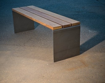 Steel Plate Outdoor Bench