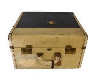 Large Square Suitcase - Vintage Luggage