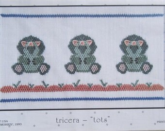 "Smocking Plate - Tricera - ""Tots"" by Little Memories (book 5)"