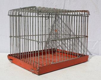 Vintage Wire Bird Cage Animal Cage