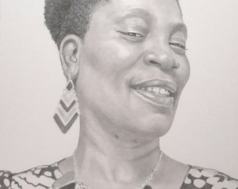 Pencil drawing custom portrait commission