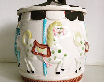 Vintage Carousel Cookie Jar